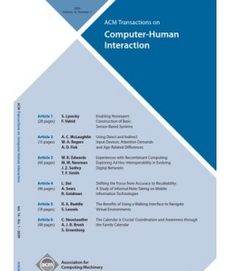 ACM Transactions on Computer-Human Interaction (ACM TOCHI)