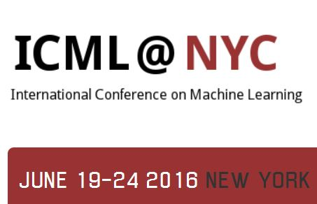 -closed- Papers due to February, 5, 2016, ICML, New York City, June 19-24, 2016